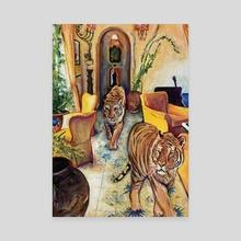 Catwalk - Canvas by Maria Titan