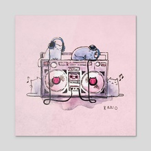 Radio - Acrylic by Abbie Sears