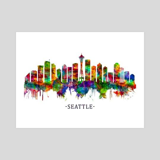 Seattle Washington Skyline by Towseef Dar