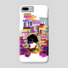 Mathilde - Bookworms United  - Phone Case by Carly A-F
