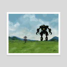 Disc Golf - Robot Fairway by John Dorn - Canvas by John Dorn