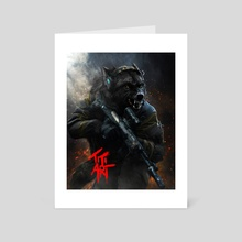 Tactical_wolf - Art Card by titiartist