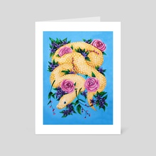 Floral Snake - Art Card by Rachele Artuso
