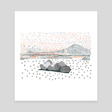 Kaws Holiday : Mt Fiji Japan - Canvas by Samuel ''PSYCO'' Opong