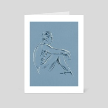 Anatomy sketch  - Art Card by Linda van Zanten