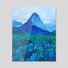 Blue Mountains - Gouache Painting - Acrylic by Chantelle Que