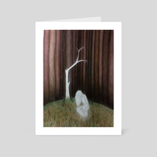ghost in the woods - Art Card by Iren Moroz