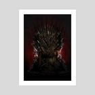 Iron Throne - Art Print by Nikita Abakumov