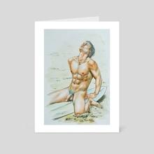 Seaside - Art Card by Hongtao Huang