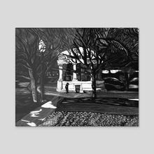 Boston Common - Acrylic by Jennifer Tiedemann