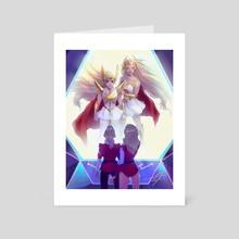 She-Ra & She-Ra - Art Card by Mirjam Löfgren