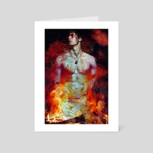 hot hot heat - Art Card by Elizabeth Hinders