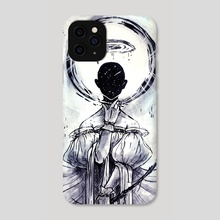 All in the Head - Phone Case by M.Cat. White