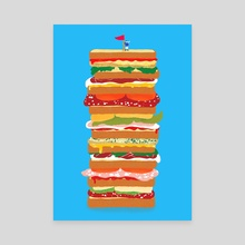 huge sandwich - Canvas by Lucia Calfapietra
