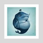 Whalesly - Art Print by Derrick Villalpando