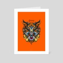 Wolf - Srenggala - Art Card by Andreas Kurniawan