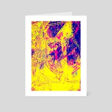 Prominent King- Abstract Ruins - Art Card by Masarah Artistry