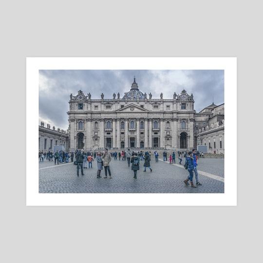 Saint Peters Square, Vatican City, Italy by Daniel Ferreira Leites