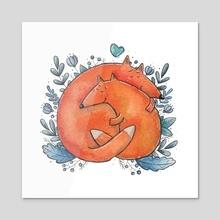 Foxy Hugs - Acrylic by Tania S