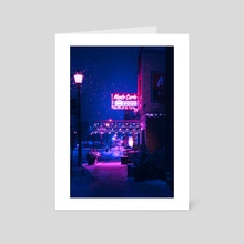 Empty Hours, Minneapolis, MN, USA - Art Card by H Designs