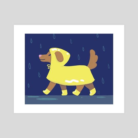 Raincoat Dog by Bree Lundberg