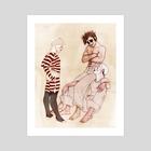 Clown Alley - Art Print by Sarah Dvojack