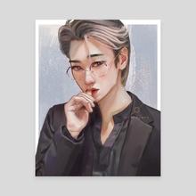 SAN - medium blue ver. - Canvas by wminjune
