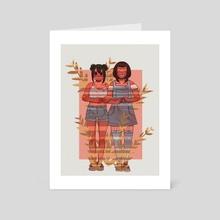Girlfriends - Art Card by Josipa Tilošanec