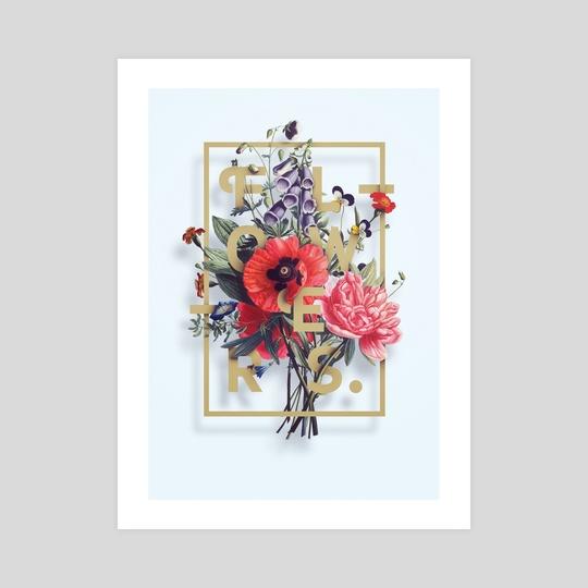 Flowers Poster N2 by Aleksandr Gusakov
