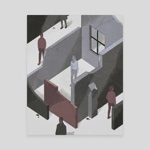 Walls part 1 - Canvas by Reno Nogaj