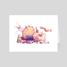 Let's Go! - Creature Parade - Art Card by Kathryn Herndon