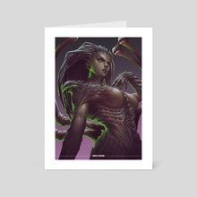 Sarah Kerrigan Fanart / Starcraft - Art Card by Debby illanes