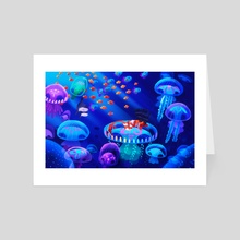 sleeping mermaid - Art Card by IMJOTCH