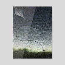 Kite - Acrylic by Chris Panila