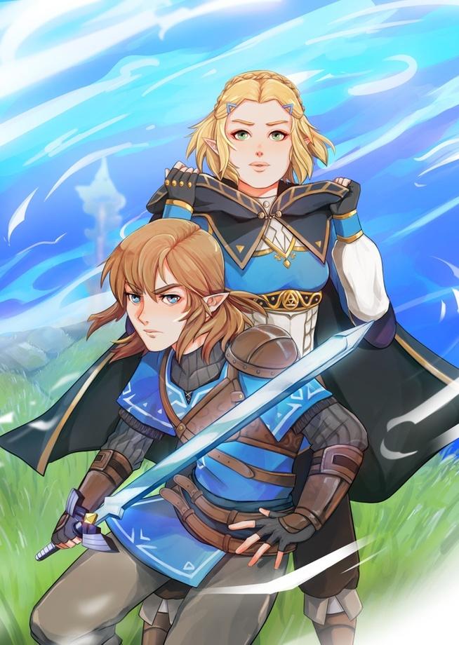 Link Zelda Botw Ii By Shadoefax