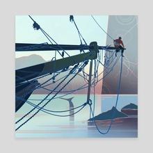Bowsprit - Canvas by Sam Hogg