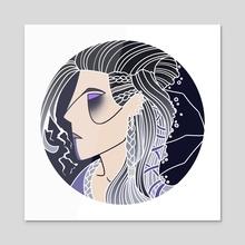 Mighty Nein - Yasha - Acrylic by Lorène Yavo