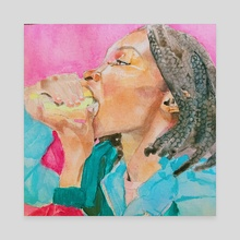 Micaela vs. burger - Canvas by Sinmidele Badero