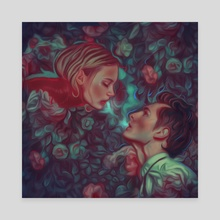 Romeo and Juliet - Canvas by Damir Martic