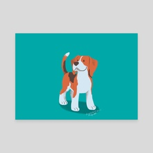 Beagle - Canvas by Birgitte Johnsen