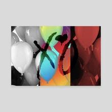 XO Balloons - Canvas by Vinay Bakshi