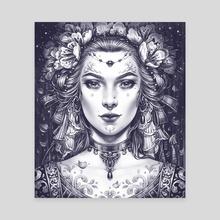 Bride - Canvas by Maria Dimova