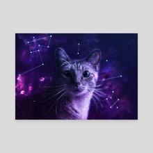 Cute Galaxy Cat - Canvas by LemoBoy