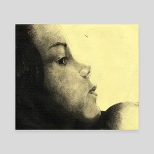 Girl Etching - Canvas by Indré Bankauskaité