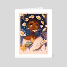 Egg Galaxy - Art Card by Geneva Bowers