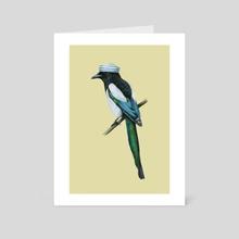 Eurasian magpie - Art Card by Mikhail Vedernikov