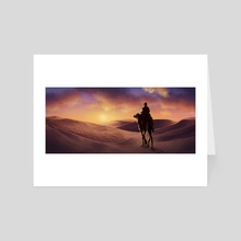 Desert Sunset - Art Card by Louhi