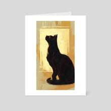 Black Cat - Art Card by Allison Gloe
