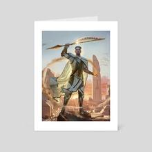 Basri, Devoted Paladin - Art Card by Jason Rainville