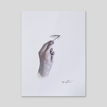 Libelula - Dragon-fly - Acrylic by Jose Yutronic